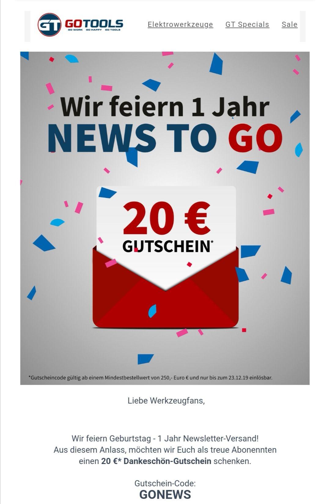 20€ de réduction dès 250€ d'achat