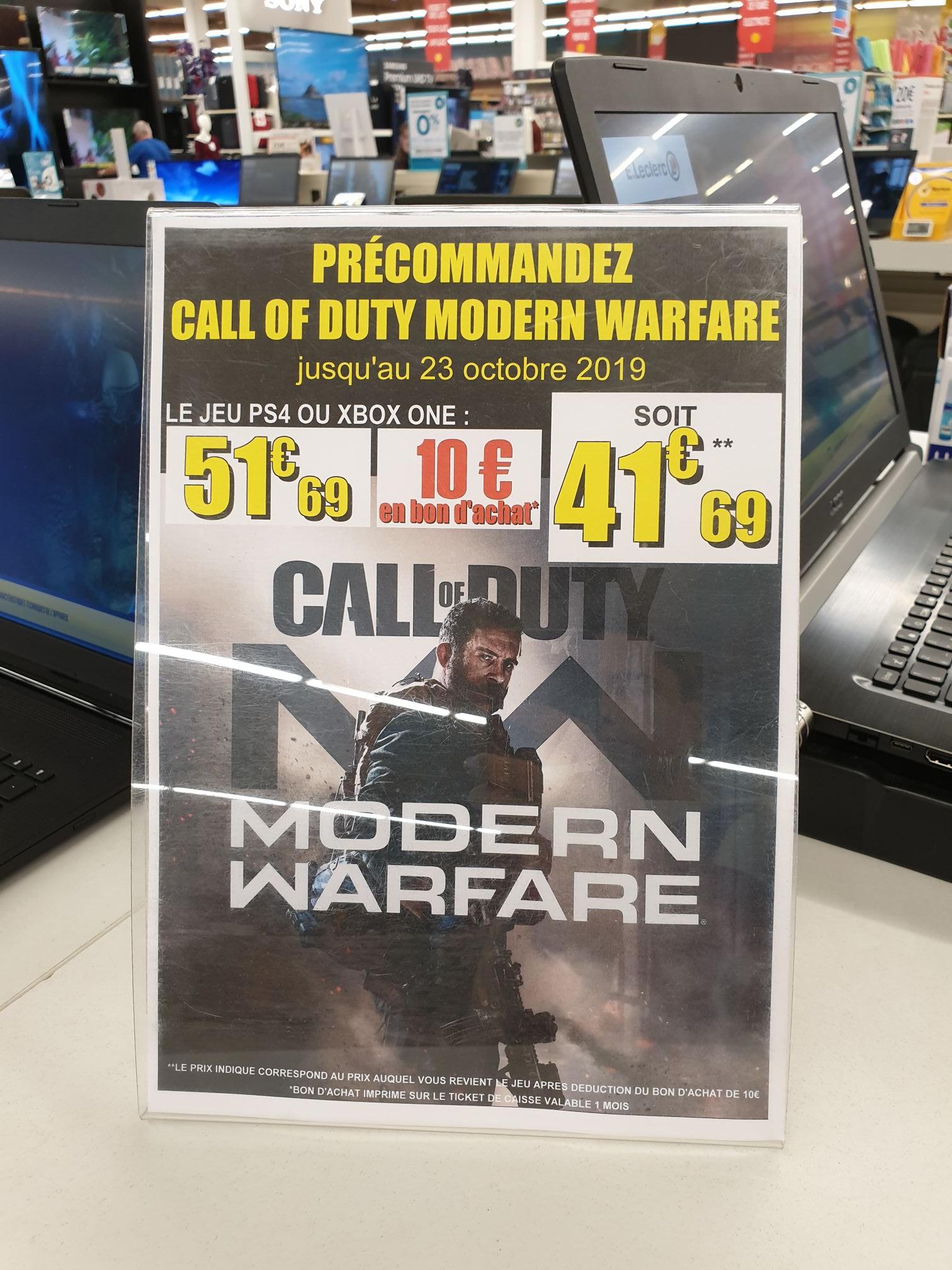 [Précommande] Jeu Call of duty modern warfare sur Xbox one et Ps4 - Saint Orens (31)