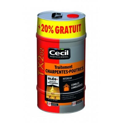 Traitements poutres et charpentes CECIL TX202- 6L (colordeco.fr)