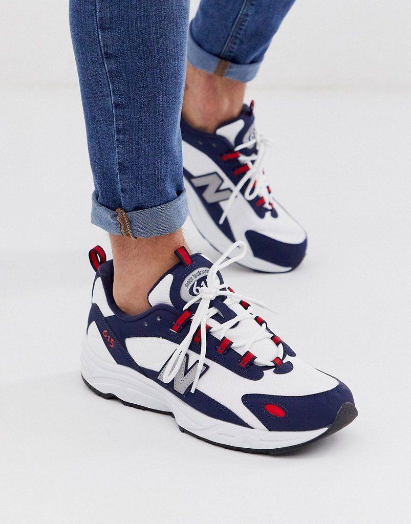 Chaussures New Balance 615 - bleu / rouge (du 37 au 45)