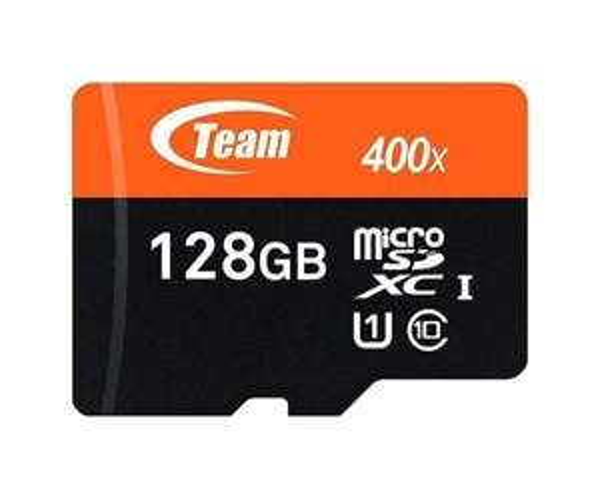 Carte microSDXC Team Classe 10 (jusqu'à 60 Mo/s - 400x) - 128 Go avec adaptateur