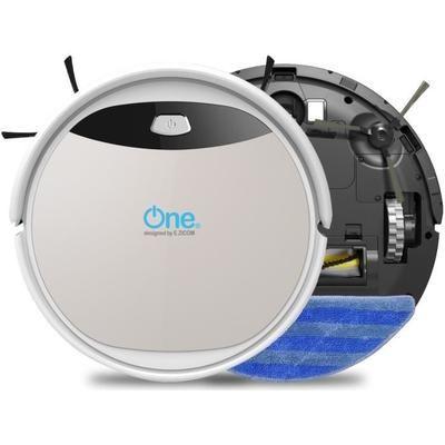 Aspirateur robot laveur One Aqua 210 - 60 dB - 120 min d'autonomie - Blanc