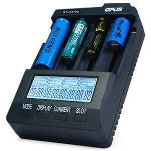 Chargeur de piles Opus BT C3100 - V2,2, 4 canaux