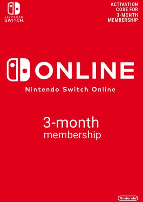 Abonnement de 3 mois au service Nintendo Switch Online (Dématérialisé)