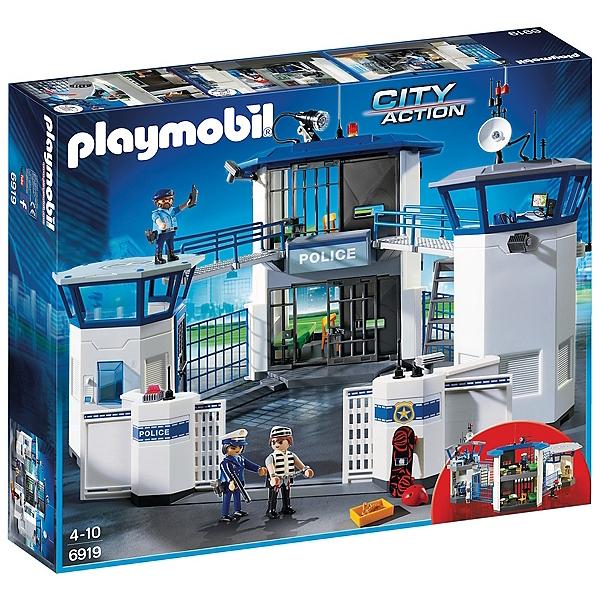 Jeu de construction Playmobil City Action - Commissariat de police avec prison (6919)