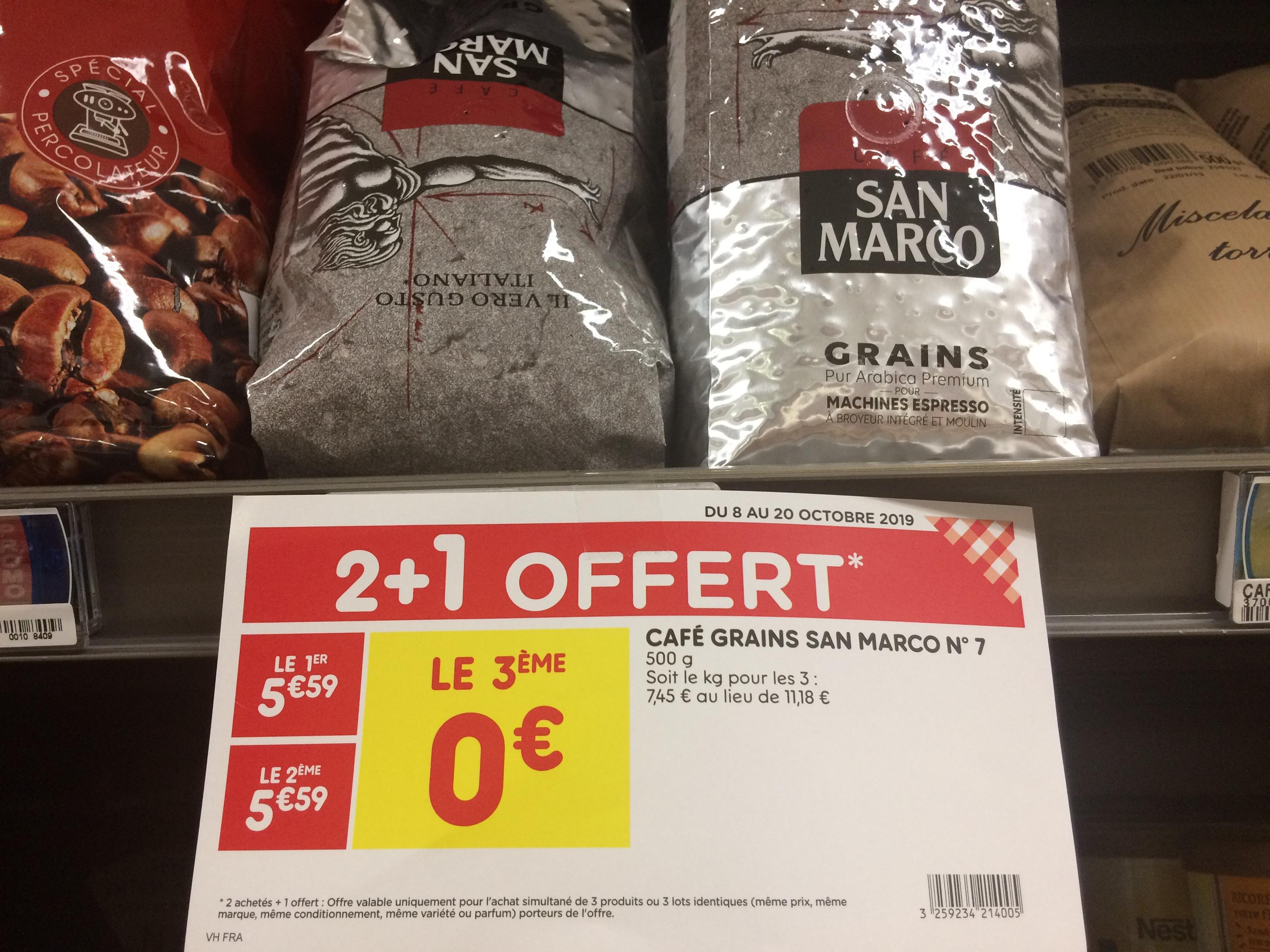 Lot de 3 paquets de café en grains San Marco 500g - Domont (95)