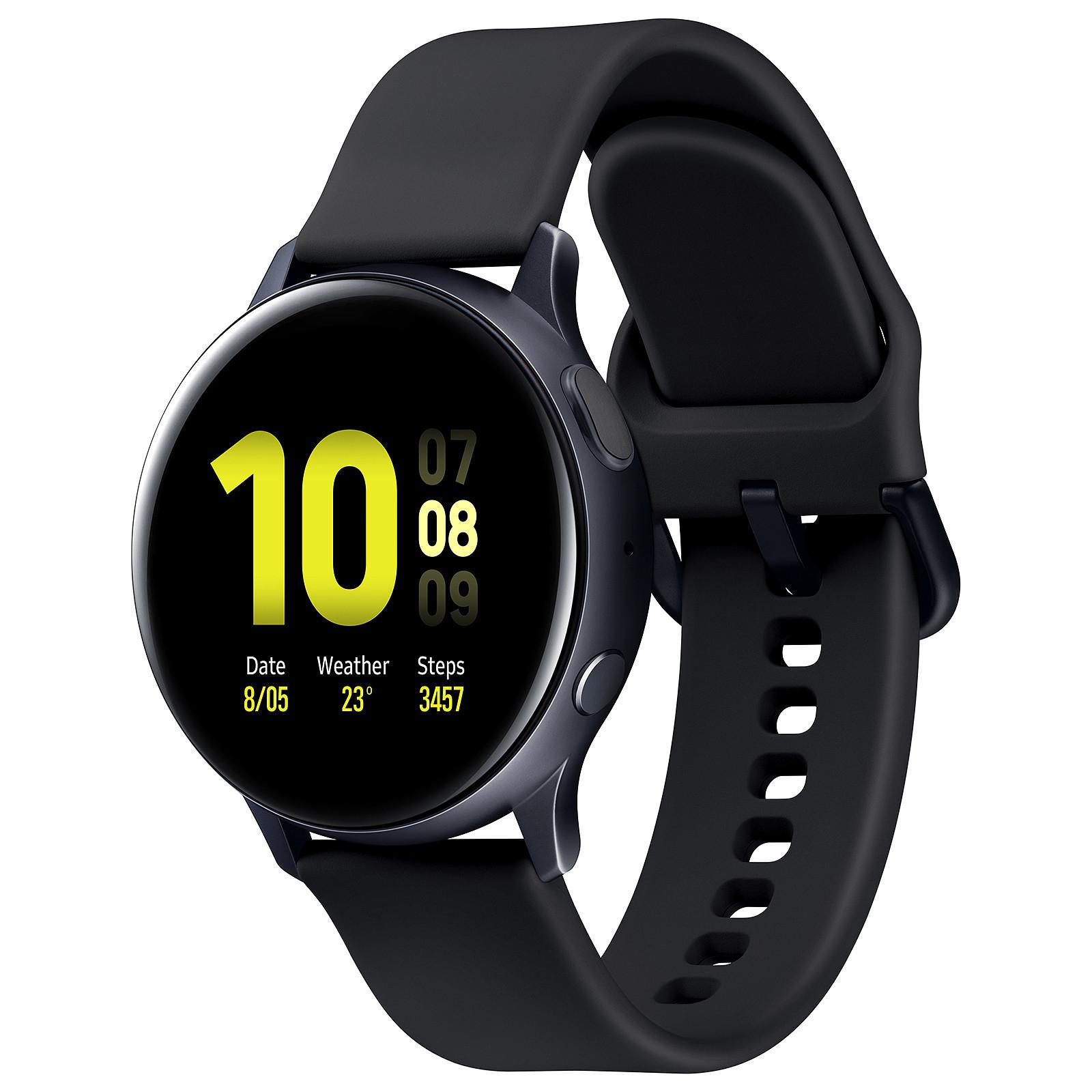 Montre connectée Samsung Galaxy Watch Active 2 - 44 mm, bracelet Sport, noir (vendeur tiers)