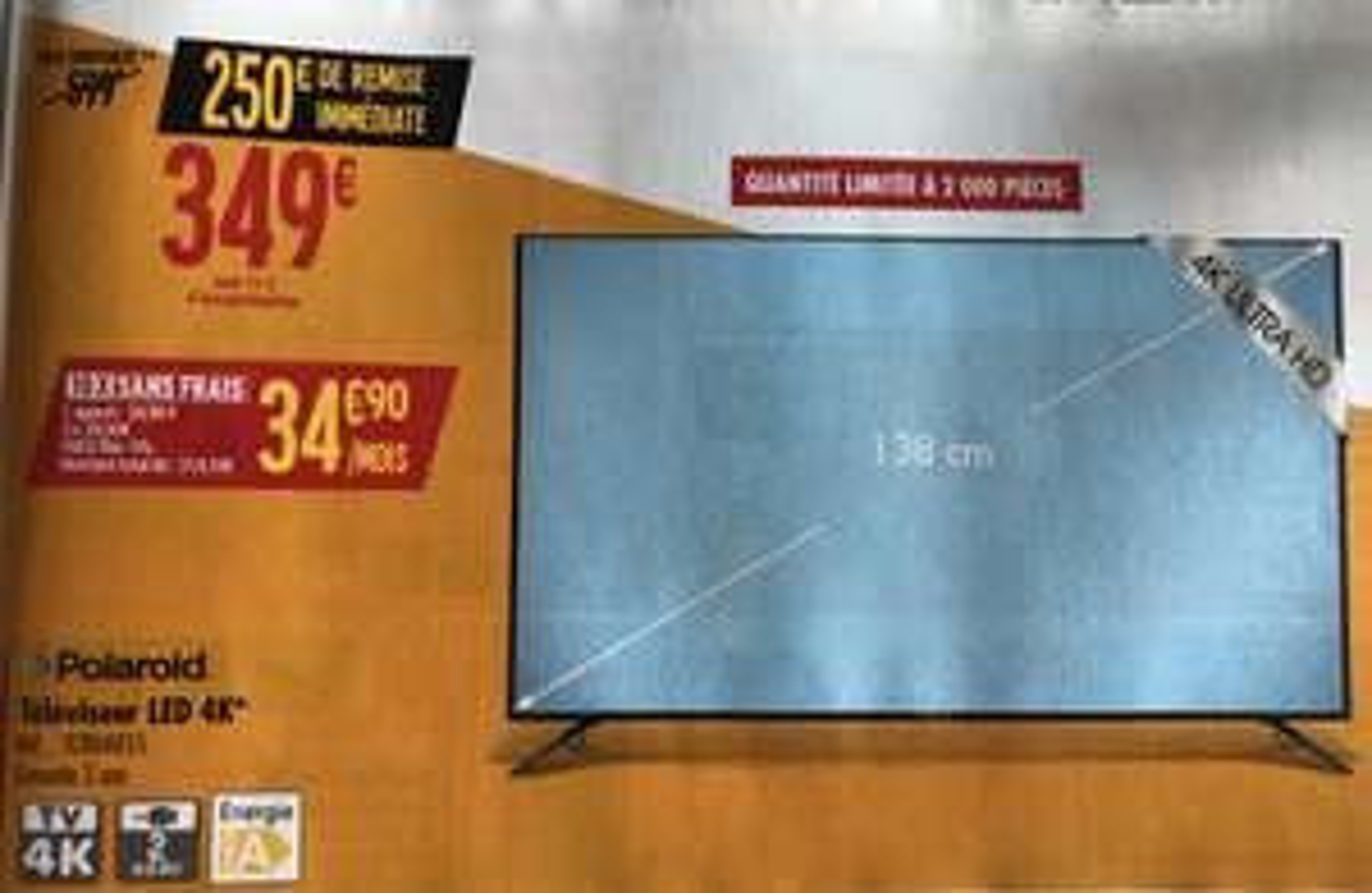 """TV 55"""" Polaroid TCRU4K55 - 4K UHD, LED"""