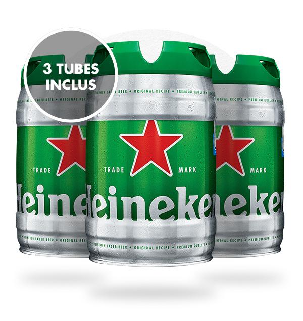 3 fût de bière Heineken - 5L + Accessoires