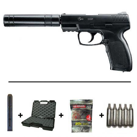 Réplique Airsoft Pistolet Combat Zone COP SK Co2 25958 + 2 Chargeurs + 5 Cartouches Co2 + Malette de Transport + 5000 Billes (0.20g)