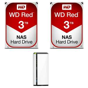 NAS QNap TS-228A + 2 x disque dur interne WesternDigital RED - 3 To