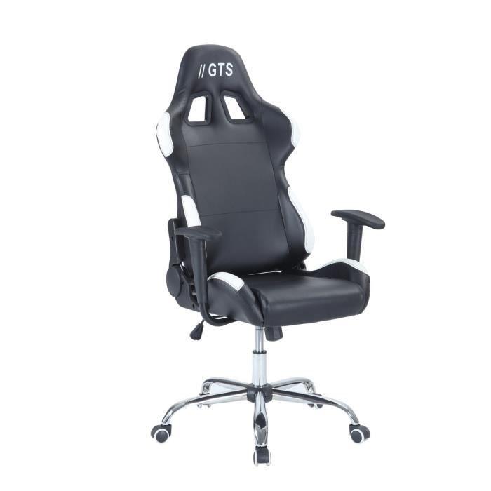 Fauteuil de bureau Gamer Baquet Race GTS - en simili-cuir