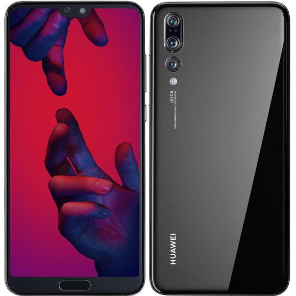 """Smartphone 6.1"""" Huawei P20 Pro - Noir, 128 Go, Double Sim (Reconditionné, très bon état)"""