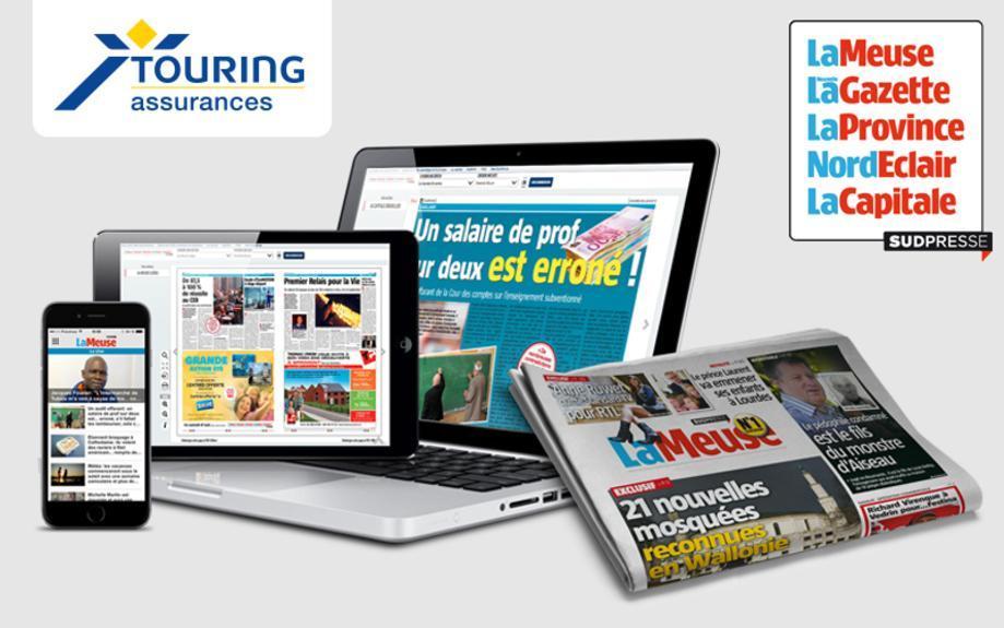 un an d'abonnement gratuit aux éditions digitales du groupe Sudpresse (La Meuse, La Gazette, La Province, Nord Eclair, La Capitale)