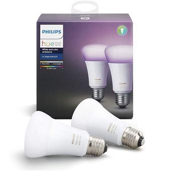 Philips Hue - Pack de 2 ampoules connectés ( e27 )+ Motion Sensor + Ruban lumineux 2 m