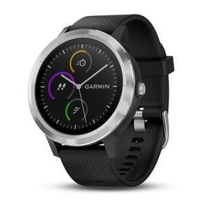 Montre connectée  Garmin Vivoactive 3 Silver  avec GPS et Cardio au poignet  - Noir / Argent