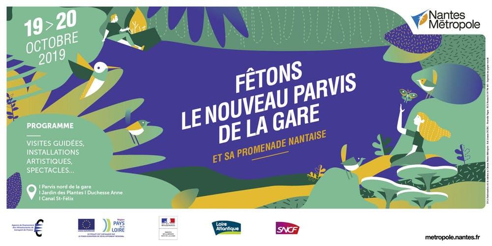 Animations et visites guidées gratuites du Jardin des Plantes, du Nouveau Parvis de la gare et du quartier de la gare - Nantes (44)