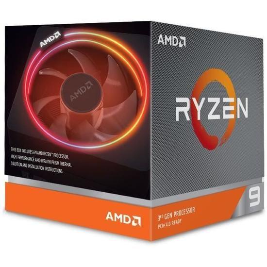 Processeur AMD Ryzen 9 3900X Wraith Prism Cooler  (4.6 GHz) - Socket AM4 + 3 Mois d'abonnement Xbox GamePass