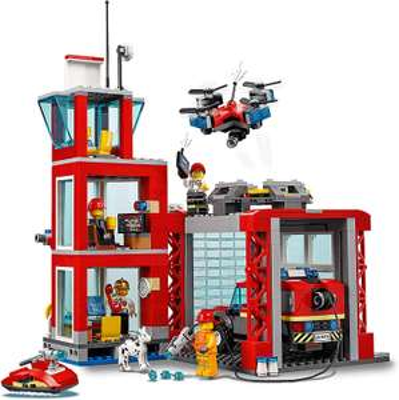 Jouet Lego City - La caserne de pompiers (60215)