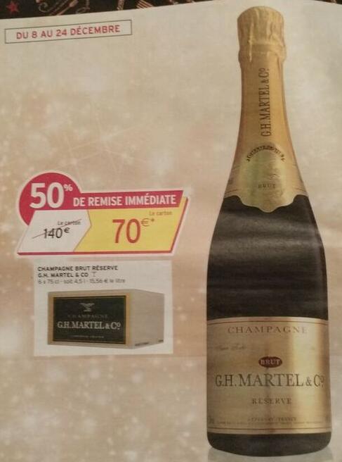 Champagne Brut Réserve G.H. Martel & CO 6x75cl