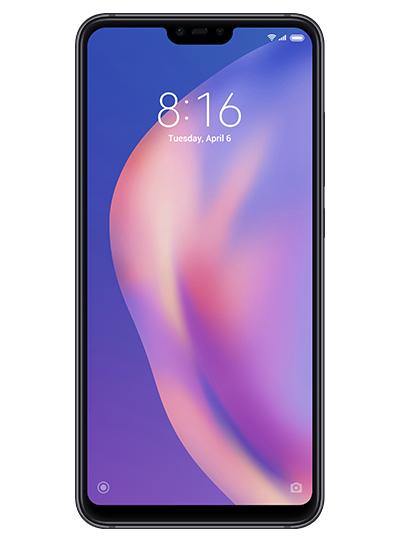 """Smartphone 6.26"""" Xiaomi Mi8 Lite (full HD+, SnapDragon 660, 4 Go de RAM, 64 Go, noir) + étui folio + protection d'écran en verre trempé"""