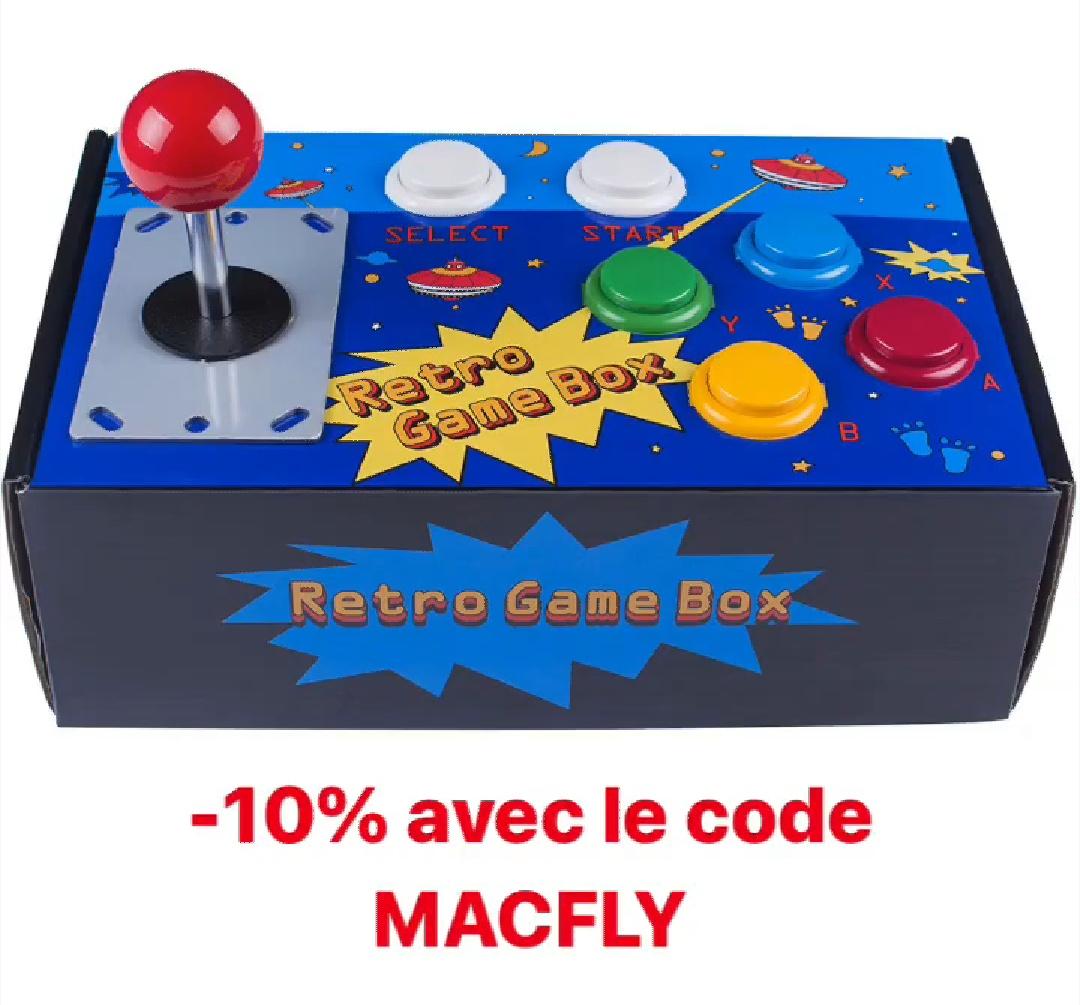 10% de réduction sur une sélection de produits Retro d'Arcade - Ex : SunFounder Retro Game Box à 29.67€