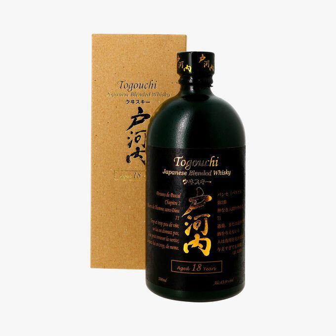 Bouteille de whisky blended Togouchi - 18 ans d'âge (70 cl) - LaGrandeÉpicerie.com