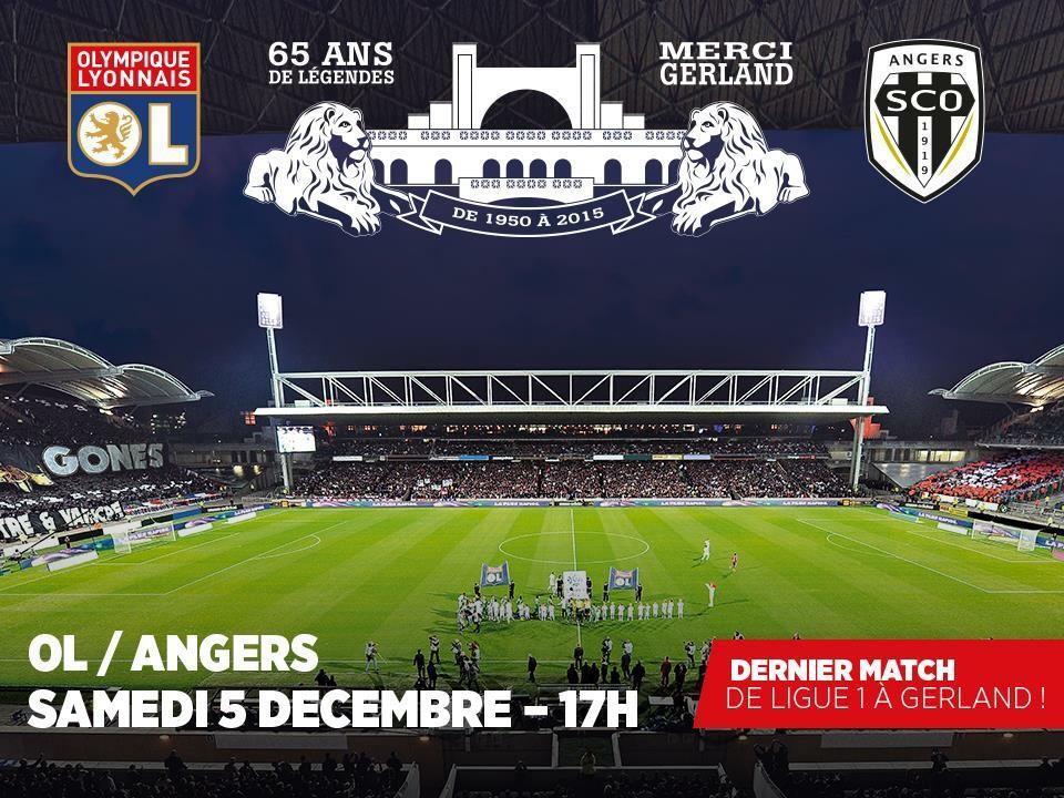 Place pour le match OL - Angers SCO le 5 décembre