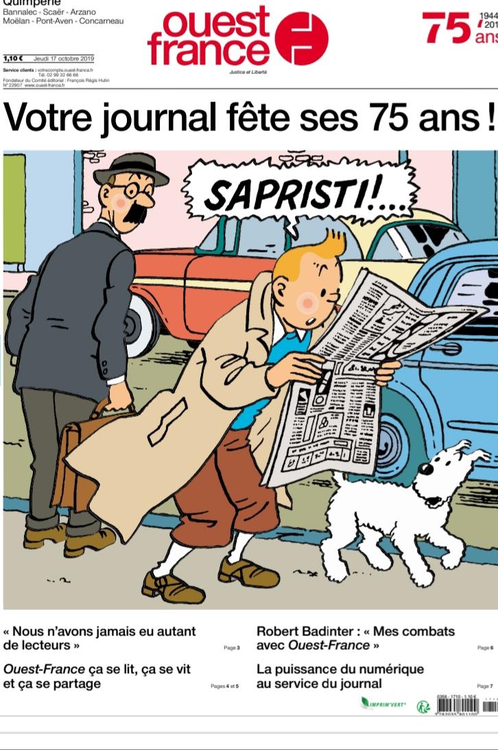 Journal Ouest-France gratuit (Dématérialisé) + Magazine format papier pour les abonnés