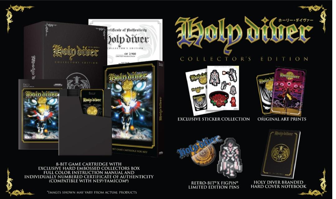Holy Diver Limited Edition Collector Black NES sur Nintendo NES
