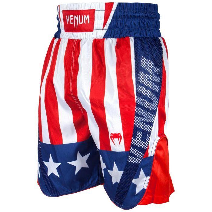 Short de Boxe Venum Elite USA - Rouge/Blanc/Bleu (Taille L/XL)