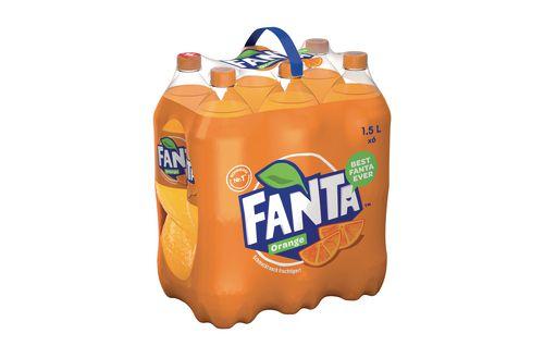 Pack de 6 bouteilles de Fanta Orange - 6 x 1.5 L