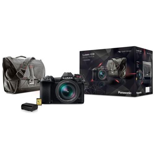Appareil photo Hybride Pro Panasonic Lumix G9 + Objectif Leica 12-60mm f/2.8-4.0 + 2ème batterie + Sac Peak Design + SD 32 Go (Via ODR 200€)