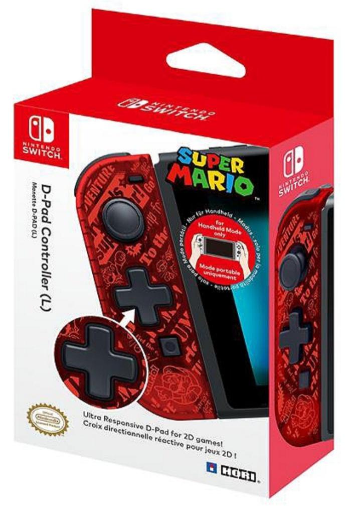 Joy-Con Gauche D-Pad Hori édition Super Mario pour Nintendo Switch (retrait en magasin)