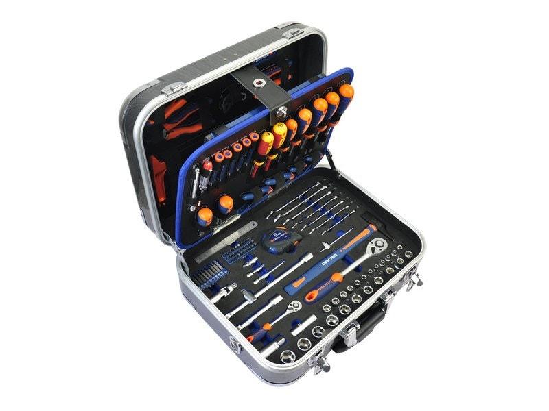 Valise trolley outils Dexter - 141 pièces