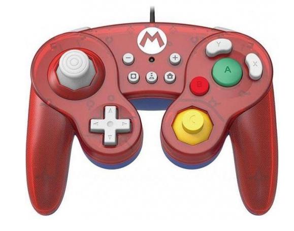 Manette Filaire Hori Smash Bros pour Console Nintendo Switch - Mario ou Peach