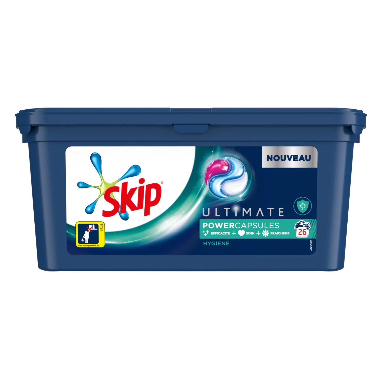 Lessive Power Capsules Skip Ultimate (Parfums au choix) - 26 lavages (Via 6.99€ sur la Carte de Fidélité + BDR)