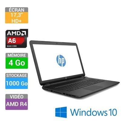 PC portable 17'' HP 17-p103nf : A6-6310, 4 Go RAM,  1 To, GTX 950M