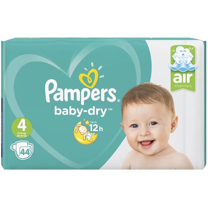 Couches Pampers Baby-Dry - Différentes tailles (Via 9.02€ sur la Carte de Fidélité + BDR)