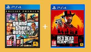 Red Dead Redemption II + GTA V sur PS4 ou Xbox One