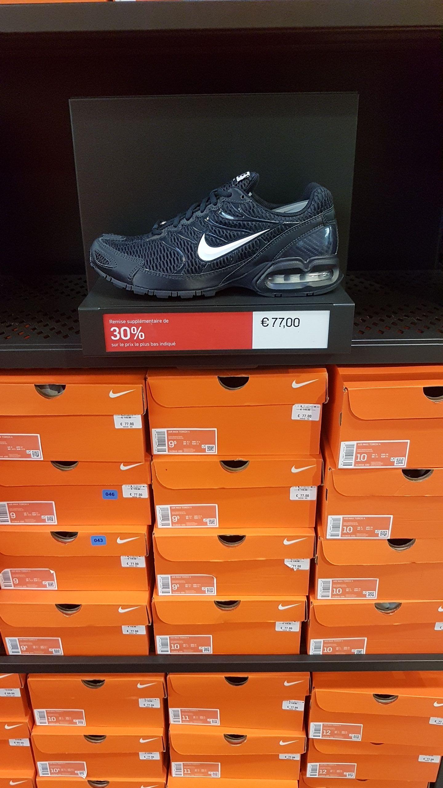 Selections de Baskets Nike exemple Air Max Torch 4 (Plusieurs tailles) - Factory Store Toulon (83)