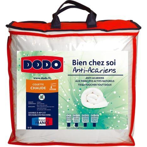 Couette chaude en microfibre anti-acariens Dodo Bien Chez Soi  - 140 x 200 cm