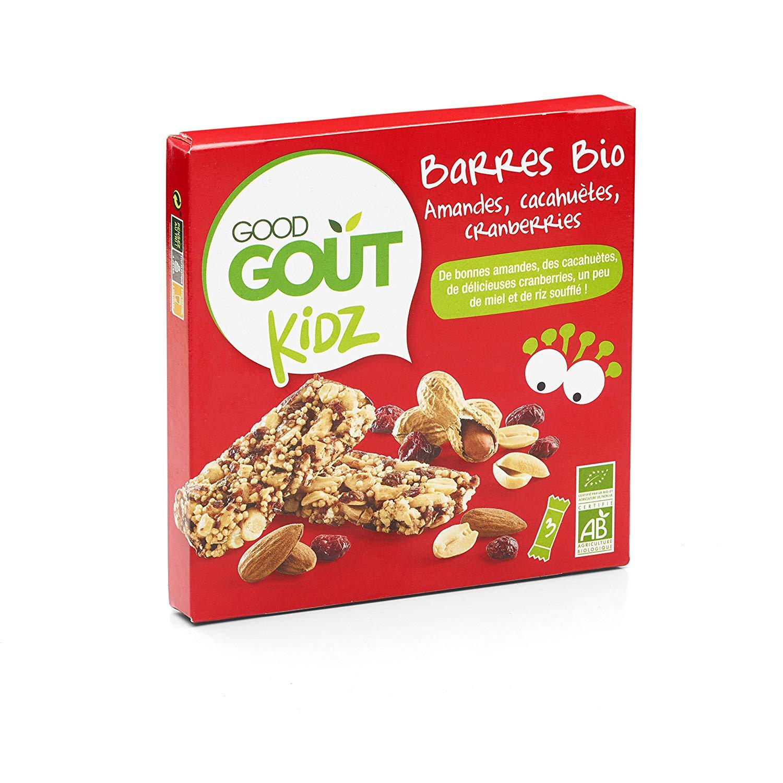 [Pantry] Lot de 3 barres Bio Amandes Cacahuètes Canneberges - Good Goût