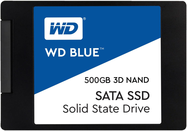 "SSD interne 2.5"" Western Digital Blue SSD 3D (500 Go) + nappe interne SATA II Enter-Web (50 cm)"