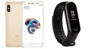 "Smartphone 5.99"" Xiaomi Redmi Note 5 - Full HD+, RAM 4 Go, ROM 64 Go + Bracelet connecté Mi Band 3 (Via ODR de 30€)"