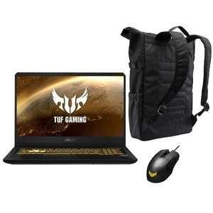 "PC Portable 17"" Asus TUF FX705DD-AU092 (R5-3550H, RAM 8Go, 256Go SSD + 1To HDD - GTX1050 3Go) + Sac + Souris"