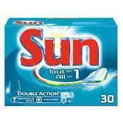 Lot de 2 Packs de 30 Tablettes lave-vaisselle Sun Tout-en-1