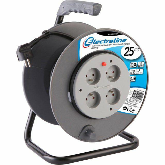 Enrouleur de câble électrique pour le bricolage Electraline - 25m