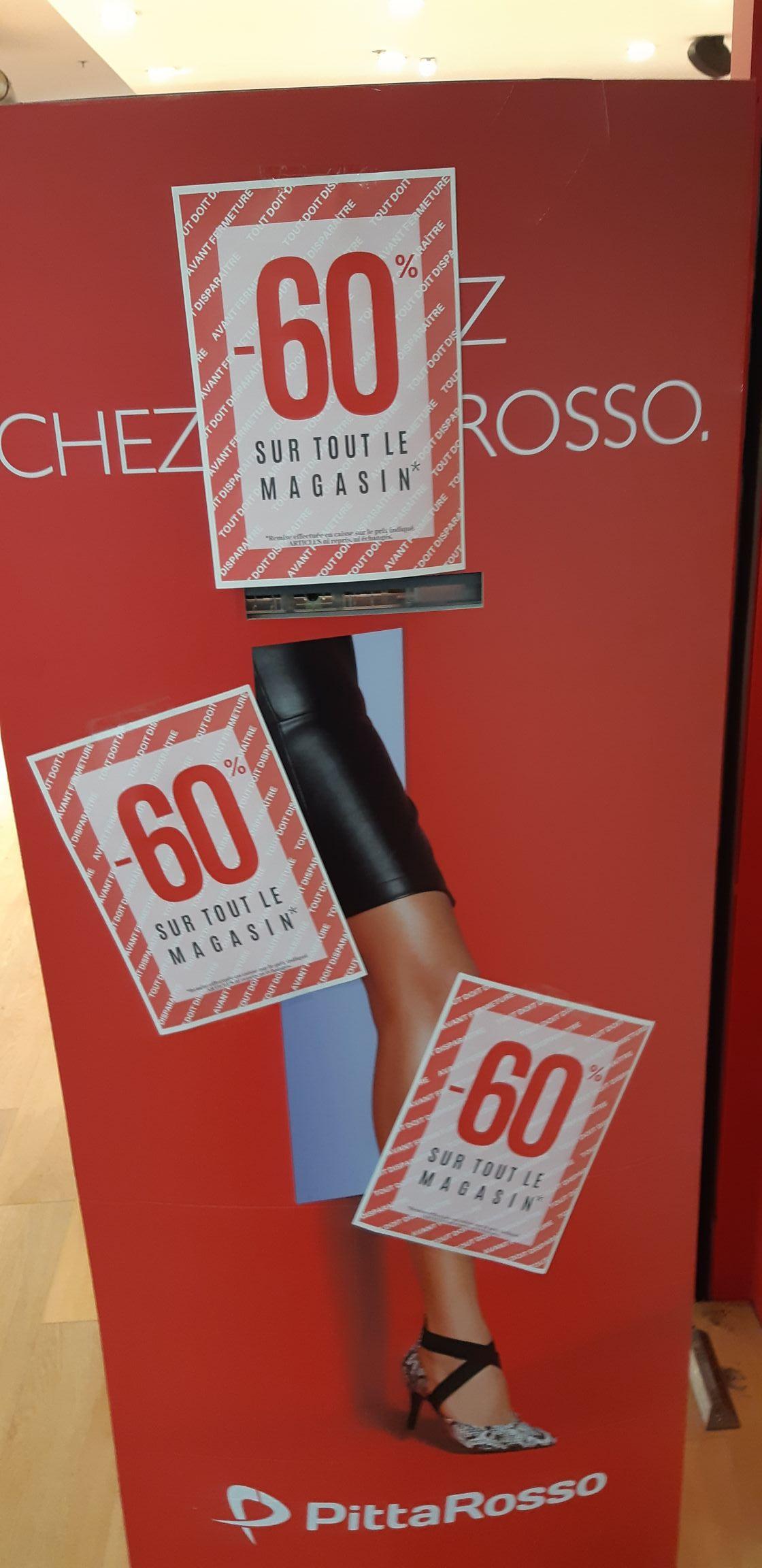 Jusqu'à 60% de réduction sur tout le magasin - PittaRosso (Muse 57 / CC Saint-Sébastien 54)