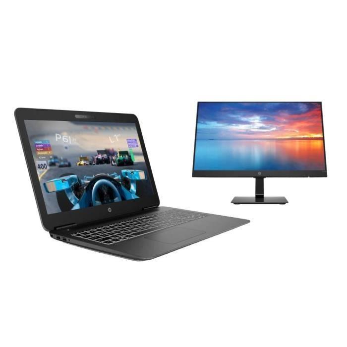 "PC Portable 15.6"" HP Pavilion 15-bc403nf (Full HD, i5-8250U, RAM 8 Go, 1 To + SSD 128 Go, GTX 1050 2 Go) + Ecran 22"" HP 22m (FHD, IPS, 5 ms)"
